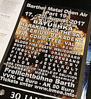 HASSMORD are confirmed for Barther Metal Open Air